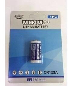 Kit Com 5 Bateria Pilha 3v Cr123a Lithium Foto Nova Alarme