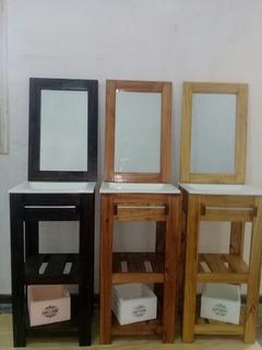 Combo Set Vanitory 40 +bacha+espejo+cajoncito