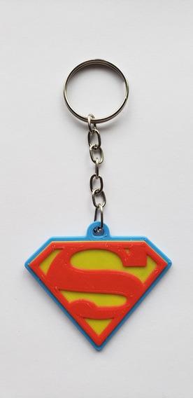 Llavero Superman Impreso 3d