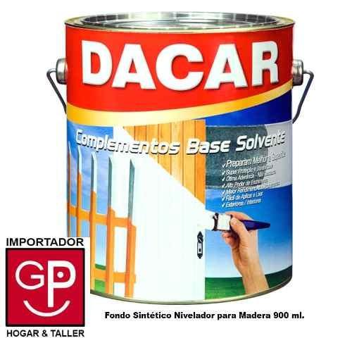 Fondo Sintético Nivelador Para Madera Dacar Int / Ext 900 Ml