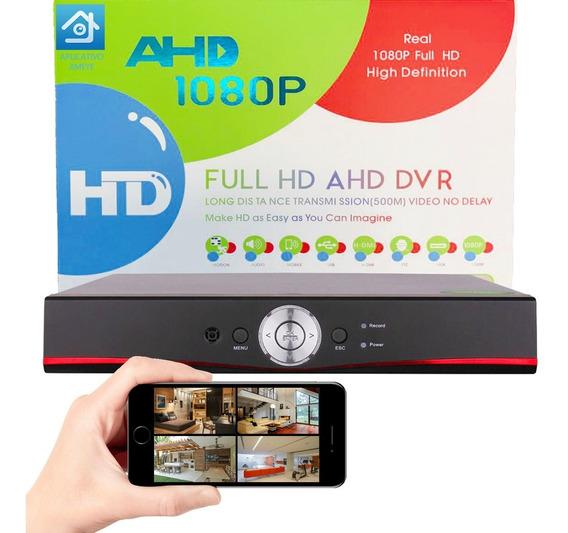 Dvr Gravador De Vídeo Multihd 1080p 4 Câmera Para Vigilância Monitoramento Cftv 5 Em 1 Hdcvi Analógica Digital Ahd Hdtvi