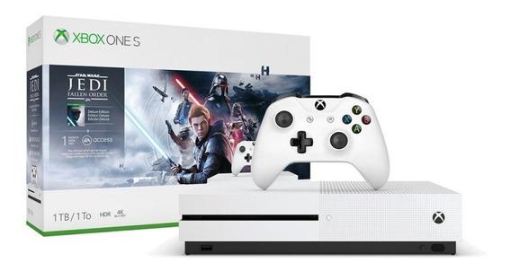 Console Xbox One S 1tb E Jogo Star Wars Jedi: Fallen Order D