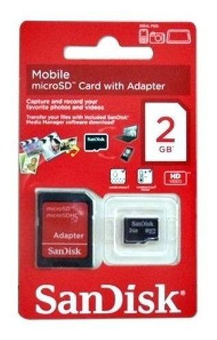 Cartão De Memória Sandisk Microsd 2gb