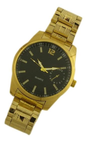 Oferta Relógio De Pulso Masculino Dourado Analógico B5674
