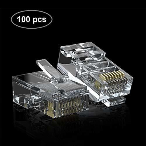 Imagen 1 de 8 de Gato Rj45 Utp Conectores Rj45 Enchufes Modulares Con Cierre