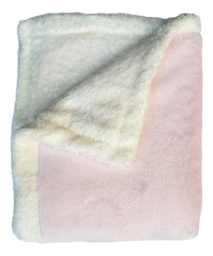 Imagen 1 de 2 de Mantita Reversible Polar Soft Y Corderito 105 X 70 Cm.