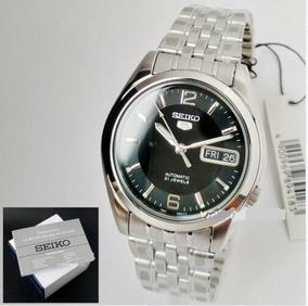 Relógio Aço Inox Automático Seiko 5 Snk393-k1 21 Jewels