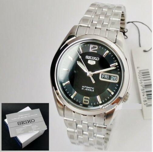 Relógio Aço Inox Automático Seiko 5 Snk393-k1 Original + Caixa