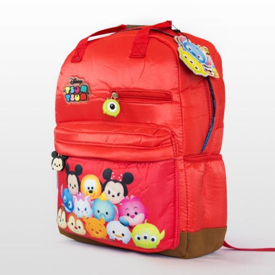 Mochila Espalda Disney Tsum Tsum Cresko 40x29x15 Cms Rojo