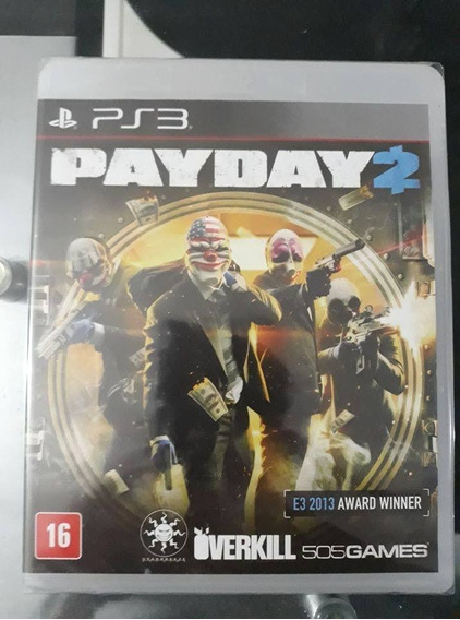 Pay Day 2 - Ps3 Playstation 3 (novo E Lacrado)