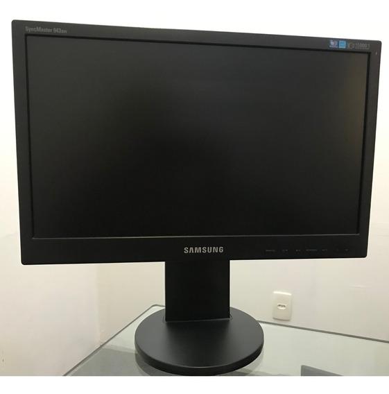 Monitor Samsung 19 Polegadas, Regulagem Altura, Cftv + Cabos