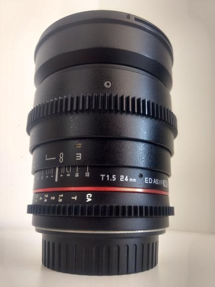 Rokinon/samyang 24mm T1.5 Cine Para Canon Ef