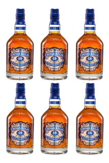 Pack 6 Und Whisky Chivas Regal 18 Años 750ml Gold Signature