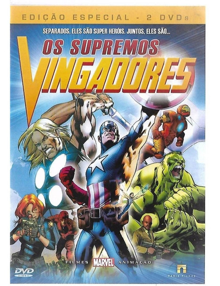 02 Dvds-os Supremos Vingadores - Frete Grátis