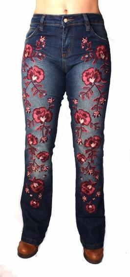Calça Country Bordada Jeans Alabama