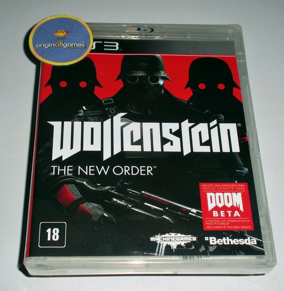 Wolfenstein The New Order ¦ Jogo Ps3 Original Lacr ¦ M Físic