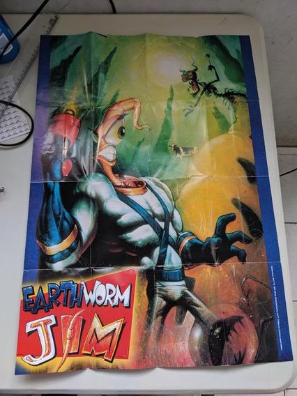 Poster Earth Worm Jim Mega Drive Original Campinas