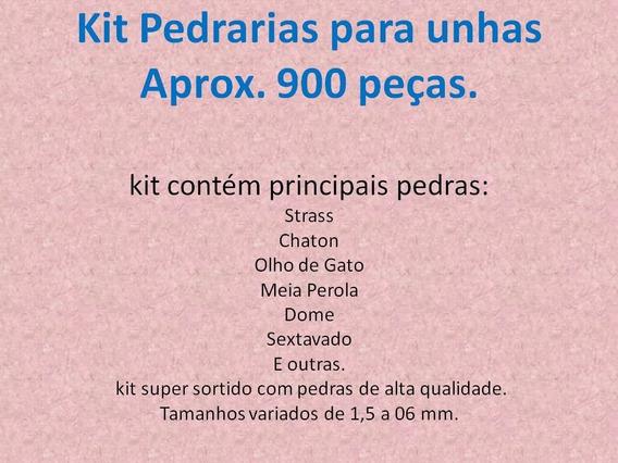Kit Pedrarias Para Unhas Aprox. 900 Peças Frete 12,00