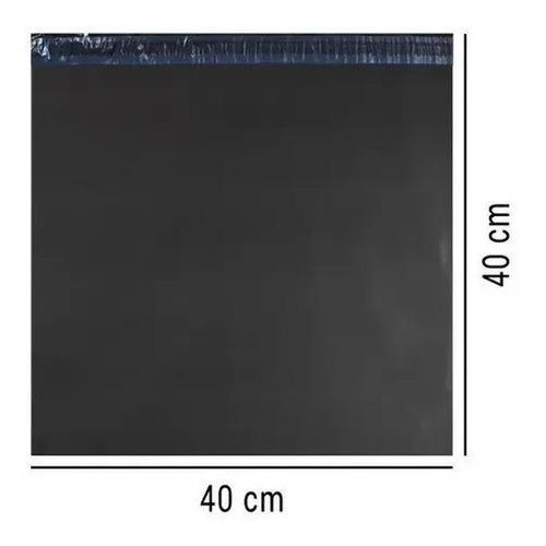 Imagem 1 de 4 de Envelope Cinza Segurança Saco Embalagem 40x40 40 X 40  100un