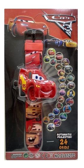 Relógio Projetor Infantil Mcqueen Carros