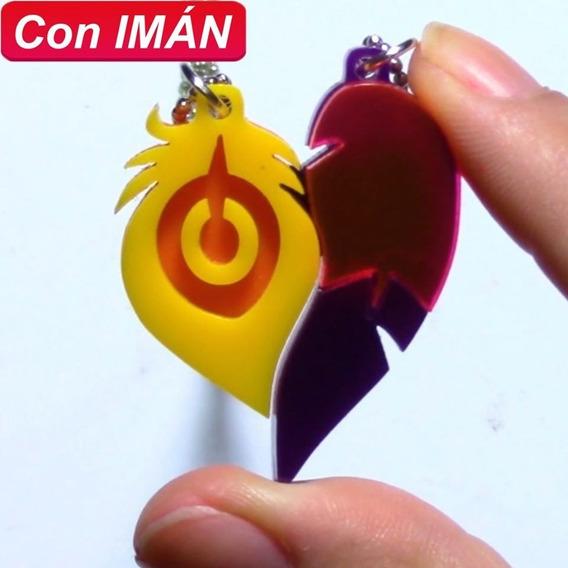 Collar De Rakan Y Xayah Acrilico Con Imán Lol Amor Amistad