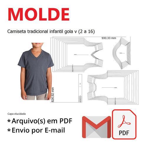 Camiseta Tradicional Infantil Gola V (2 A 16)