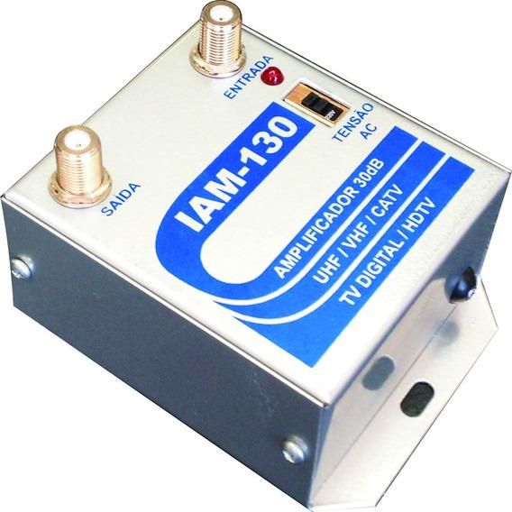 Amplificador P/ Coletiva Uhf Vhf Digital Iam-130 30db 1giga