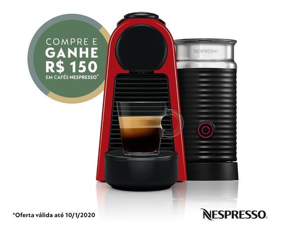 Nespresso Essenza Mini Combo Vermelha 110v + Aeroccino 3