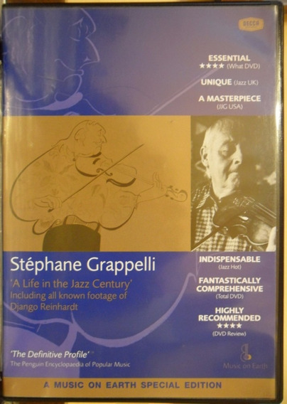 Dvd Stephane Grappelli A Life In The Jazz Century Duplo