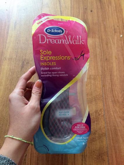 Padrísimas Plantillas Dr Scholls Dreamwalk Gel Originales!!