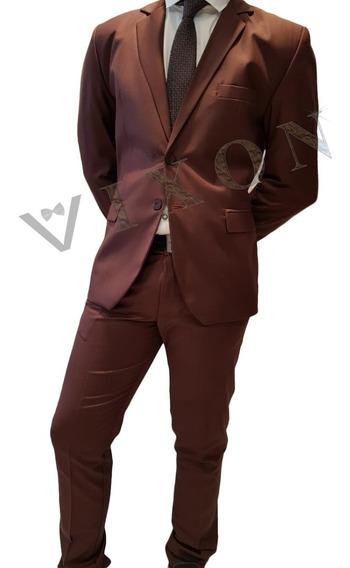 Traje Entallado Slim Fit Ambo C/pantalon Y Camisa