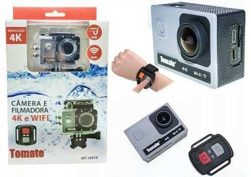Câmera Filmadora Esporte 4k Wifi Youtube Com Controle