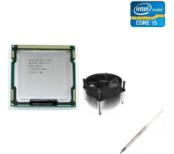 Processador Intel I5 650 3.20ghz Lga 1156 + Cooler + Pasta T