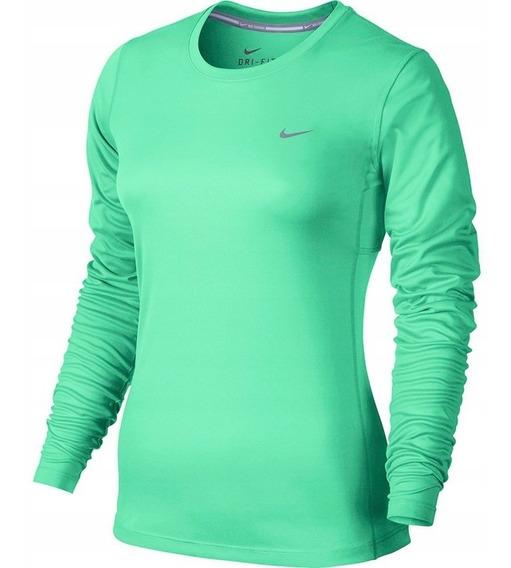 Playera Manga Larga Nike Dri-fit Miler T-shirt 686904 387