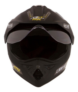 Capacete para moto cross Pro Tork Liberty MX Pro Vision preto-fosco tamanho 58