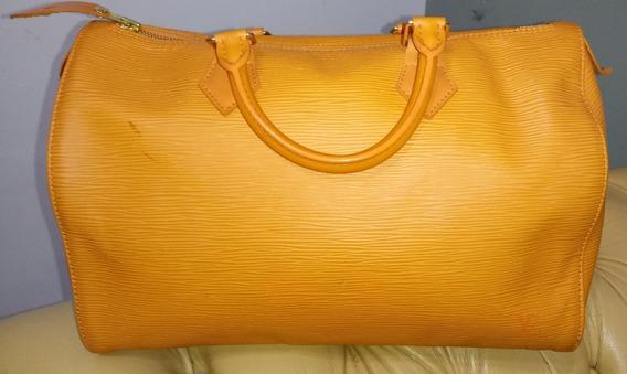 Bolsa Louis Vuitton Speedy 30 Couro Epi - Cadeado E Chaves
