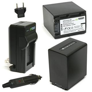 Batería Wasabi Power (paquete De 2) Y Cargador Para Sony Np