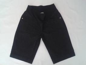 Bermuda Jeans C/ Elastico Megadose Gestante