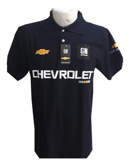Playera Tipo Polo Chevrolet Azul Marino Envío Gratis