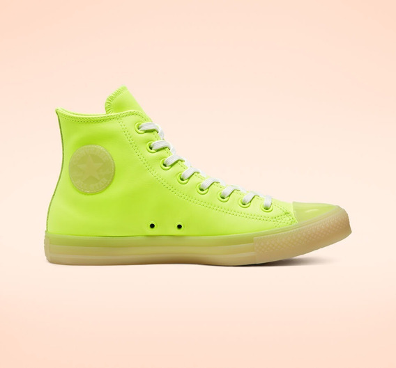 Tenis Converse Unisex Neon Leather Chuck Taylor All Star Ver