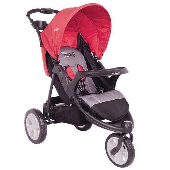 Carrinho De Bebê Lenox Fox Com Bandeja Vermelho