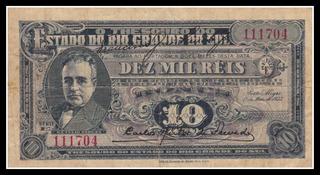 Cédula Bonus 10.000 Réis Getúlio Vargas Ano 1933