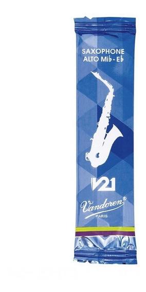Palheta Para Sax Alto Eb Mi Bemol Vandoren V21 3 Unitária