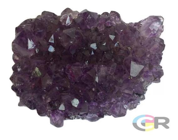 Mini Drusa Ametista Cristal Pedra Natural Bruta De 8 A 12 Cm