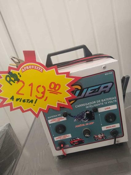 Carregador De Baterias Automotivas 8a Power P08