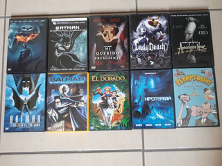 Lote De 10 Películas Dvd Originales Batman Dark Knight