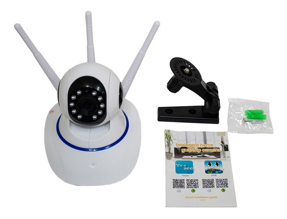 Câmera Ip Robo 360° Wifi Visão Noturna Jortan (jt-160bw-3a)