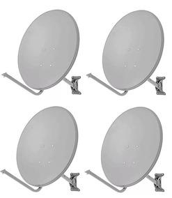 Kit 4 Antenas Banda Ku 60cm Completas Sem Cabo E Lnbs
