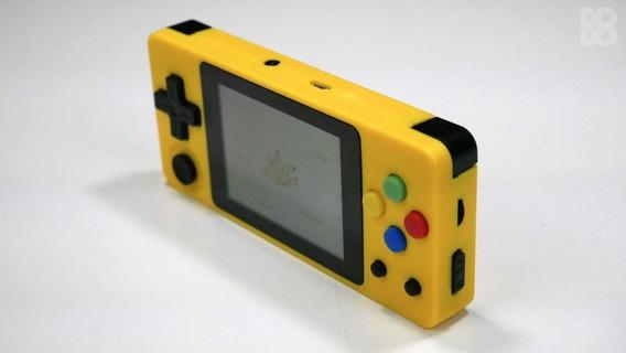 Ldk Landscape Amarelo Dingux - 32gb - 13mil Roms E54a Neo Geo Master System Gba, Gbc, Gb, Atari, Coleco, Aracde, Ps1...