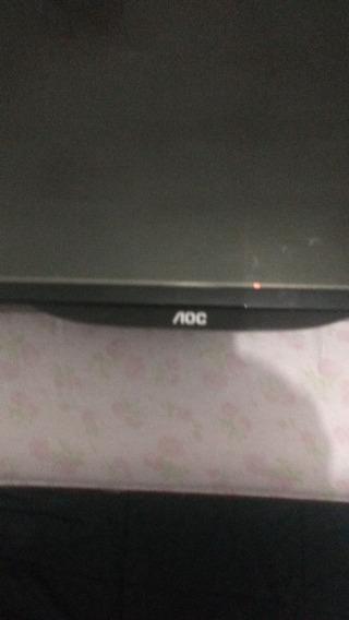 Tv Aoc 50 Display Trincado E Leds Apagados,placas Boas